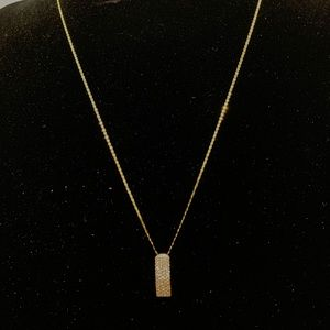 Authentic 18K Yellow Gold Necklace with Pendant